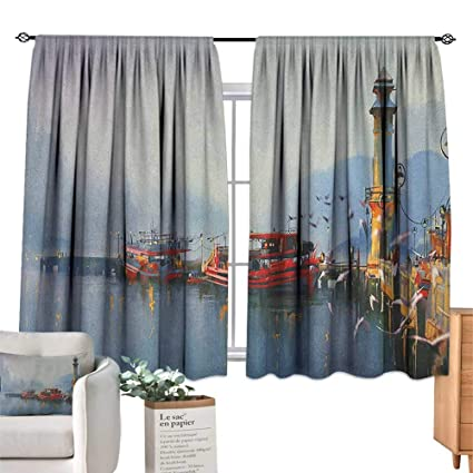 Amazon.com: PriceTextile Country,Living Room Curtains View ...