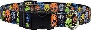 Yellow Dog Design One Size Fits All Neon Skulls Break Away Cat Collar, Null