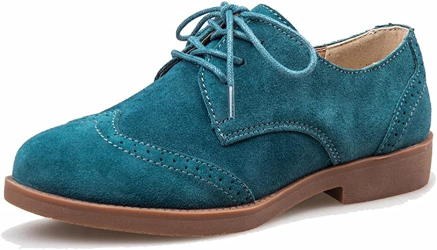 Suede Leather Oxfords Brogue Shoes