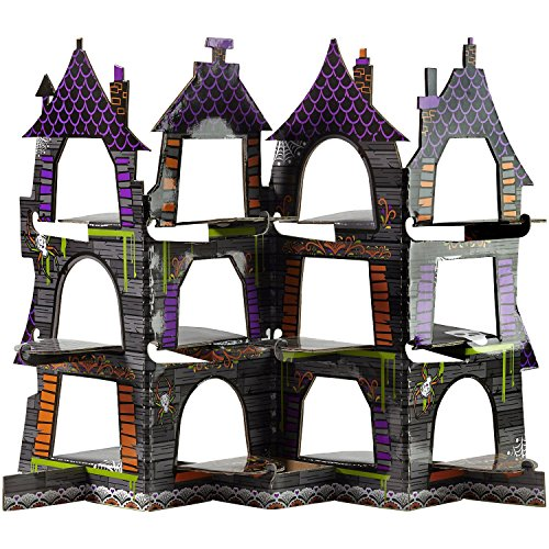 Wilton 1512-4503 Haunted House Cupcake Display, Assorted (Halloween Haunted House Decorations)
