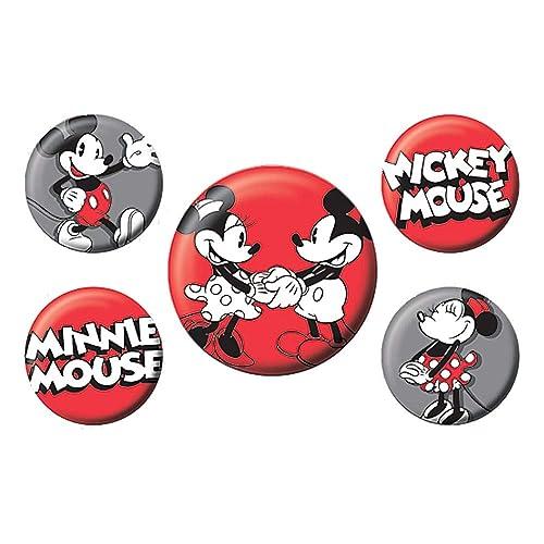 Echte Disney Classic Mickey Mouse 5 St/ück Abzeichen Set Minnie Mouse