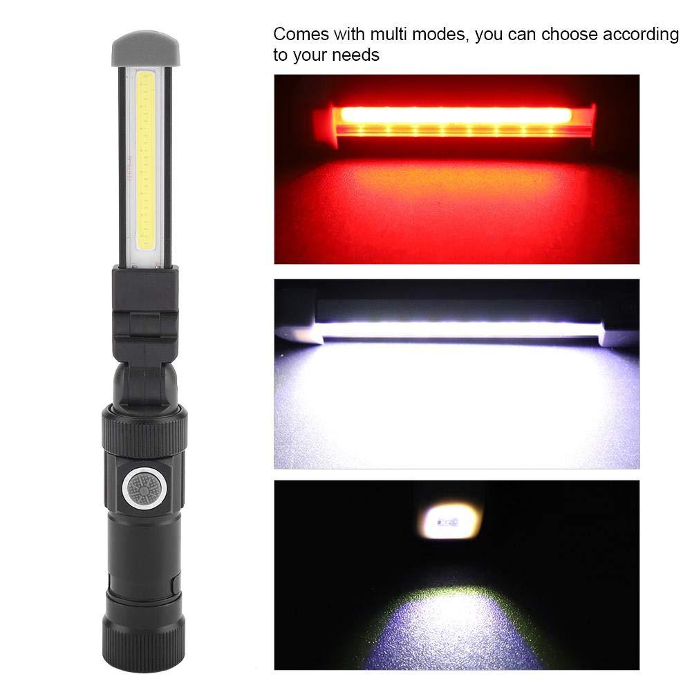 1W USB Lampada da lavoro ricaricabile portatile Ricarica di emergenza con torcia a LED ultra luminosa con coda magnetica Luci di lavoro COB 6W