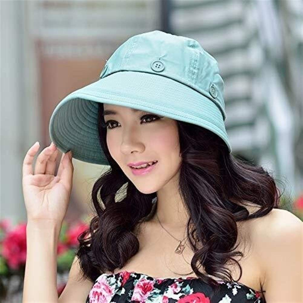 Luoshangqing Sun Hat for Ladies Wide Brim Velcro Adjustable Quick-Dry Visor Hat with Removeable Hat Top Casual Women Visor (Color : F, Size : Adjustable) by Luoshangqing