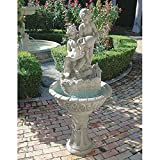 Water Fountain – 5 Foot Tall Portare Acqua Italian-Style Garden Decor Fountain – Outdoor Water Feature For Sale