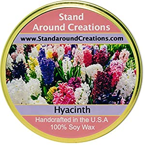 Premium 100% Soy Tureen Candle - 11 oz. - Hyacinth - Lovely notes include lavandin, jasmine, lavender, rose, myrrh. 1