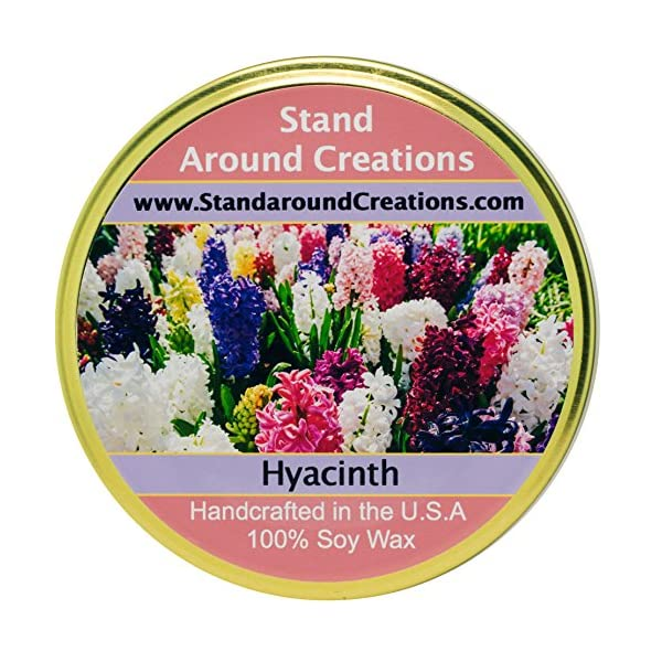 Premium 100% Soy Tureen Candle – 11 oz. – Hyacinth – Lovely notes include lavandin, jasmine, lavender, rose, myrrh.