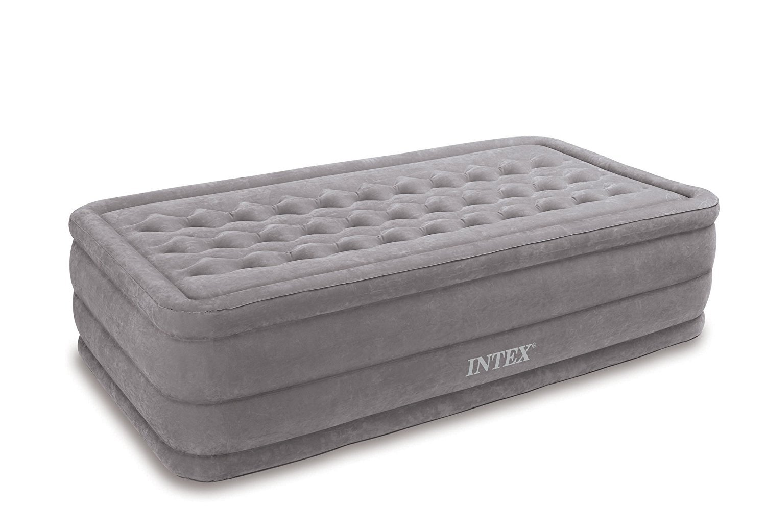 Intex Ultra Plush Airbed with Built-in Electric Pump, Twin, Bed Height 18''