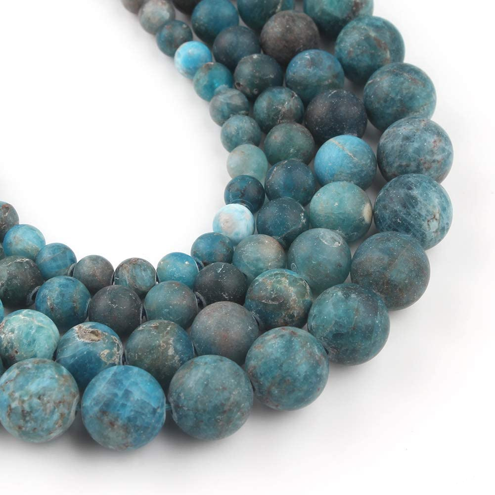 Full Stand 18 Inches Super Finest Quality Apatite Smooth Round Beads 7 MM Genuine Blue Apatite Smooth round Beads Necklace
