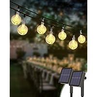 Guirnaldas Luces Exterior Solar [2 Pack], Kolpop 6M Total de 60 LED Cadena de Bola Cristal Luz, Guirnalda Solar LED Bola…