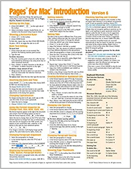 Pages for Mac Quick Reference Guide, version 6 Introduction (Cheat