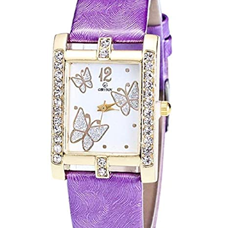 Noopvan Butterfly Watches for Women,Crystal Analog Lady Watches Female Watches