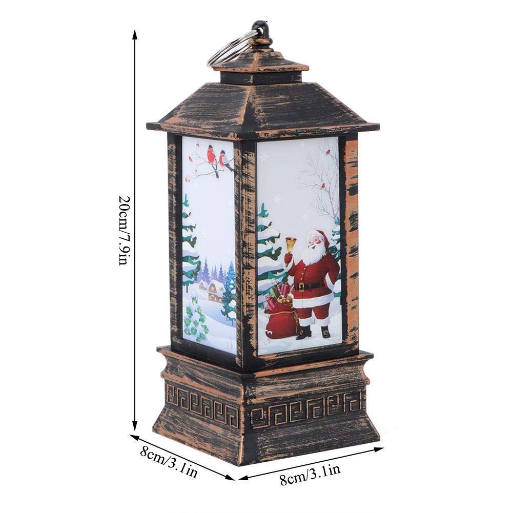 Strnek Christmas Party Decoration Outdoor Hanging Lantern for Home//Party//Christmas LED Lantern Vintage Style Decorative Lantern Candlestick Lantern Light Battery Powered Elk