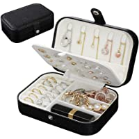 Jewelry Box, Travel Jewelry Organizer Cases with Doubel Layer for Women's Necklace Earrings Rings and Travel Accessories