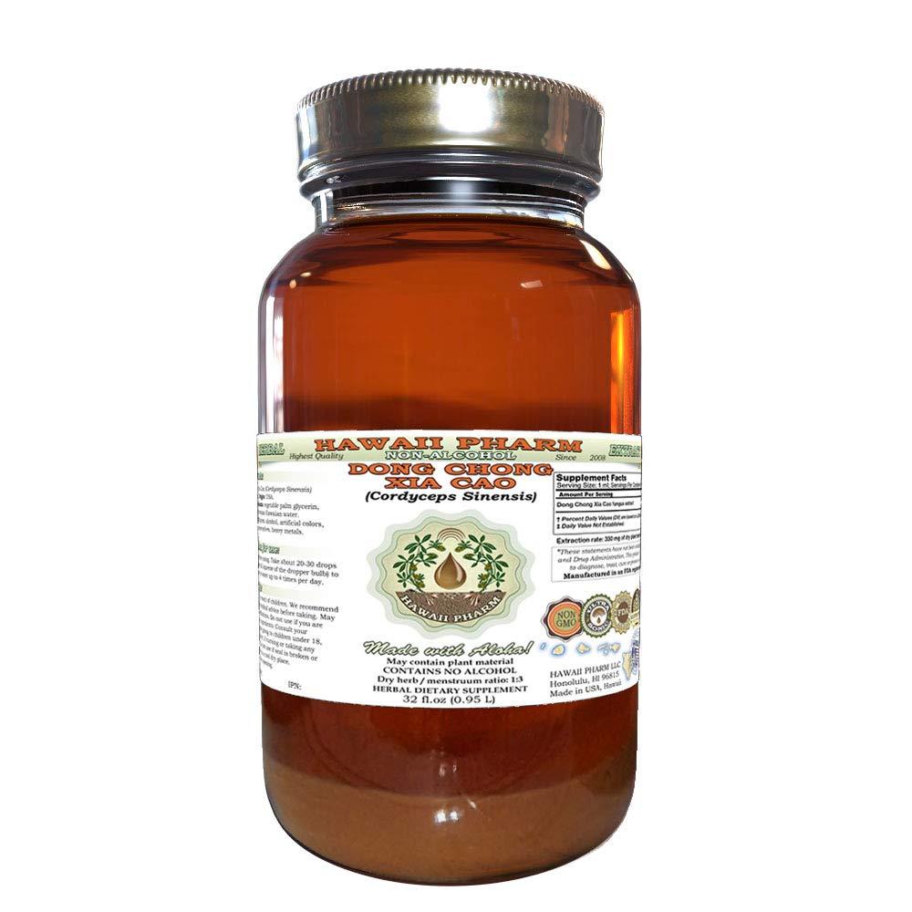 Dong Chong Xia Cao, Caterpillar Fungus (Cordyceps Sinensis) Tincture, Dried Fungus Liquid Extract, Dong Chong Xia Cao, Glycerite Herbal Supplement 32 Oz