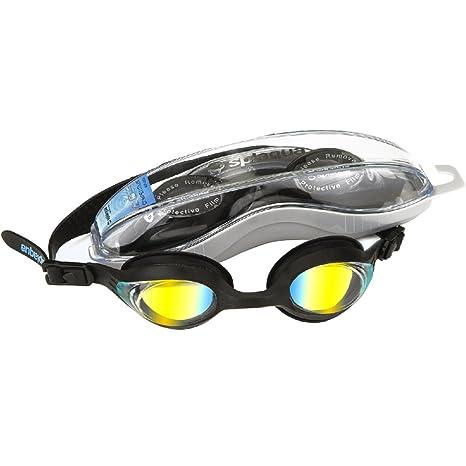 6451d880da88 Seavenger RX Prescription Swim Goggle with Optical Corrective Mirrored  Metallized Polarized Lenses - Black Metallized-