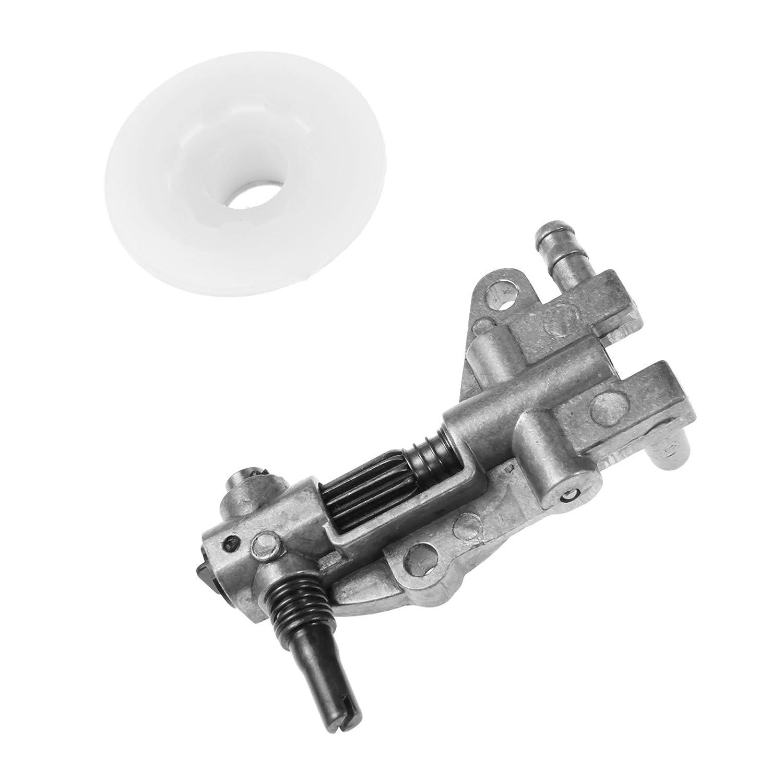 /Ölpumpe mit Schneckengetriebe Gear Worm Set f/ür Kettens/äge 4500 5200 5800 45CC 52CC 58CC Kettens/äge Teile