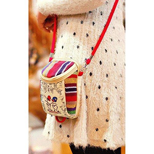Donalworld Flower Crossbody Pt2 Bag Girl Hipster Cloth Purse Straw rfxnOgrzqw