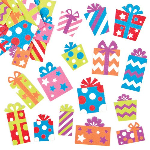 Baker Ross Foam Stickers for Children to Decorate Winter Cards Crafts and Collage (Pack of 120)