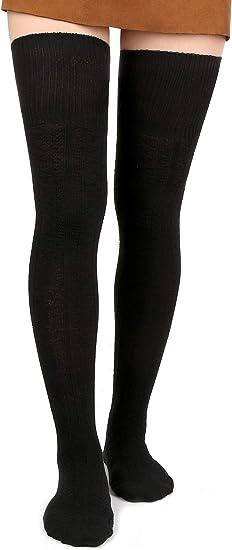 Women Fahsion Winter Warm Over The Knee Thigh High Soft Socks Stockings Leggings