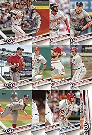 2017 Topps Series 1 Washington Nationals Baseball Card Team Set 13 Card Set Includes Bryce Harper Daniel Murphy Wilson Ramos Max Scherzer