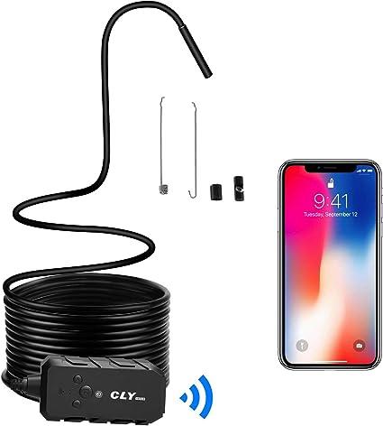 Endoscopio CLY Endoscopio WiFi Android/iPhone Cámara de Inspección ...