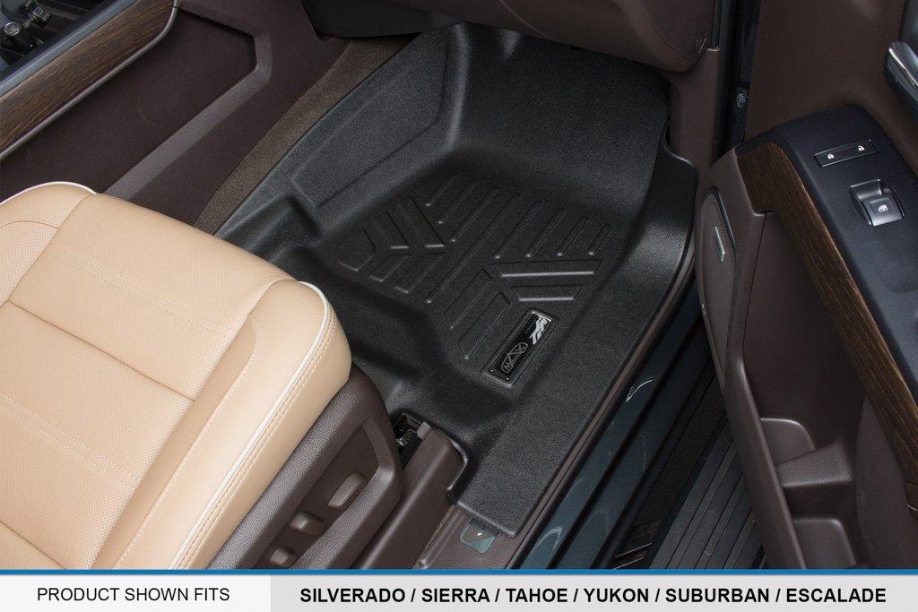 with 2nd Row Bench Seat MAXFLOORMAT SMARTCOVERAGE Premium Floor Mats 3 Row Set Black for 2015-2018 Chevrolet Suburban//GMC Yukon XL