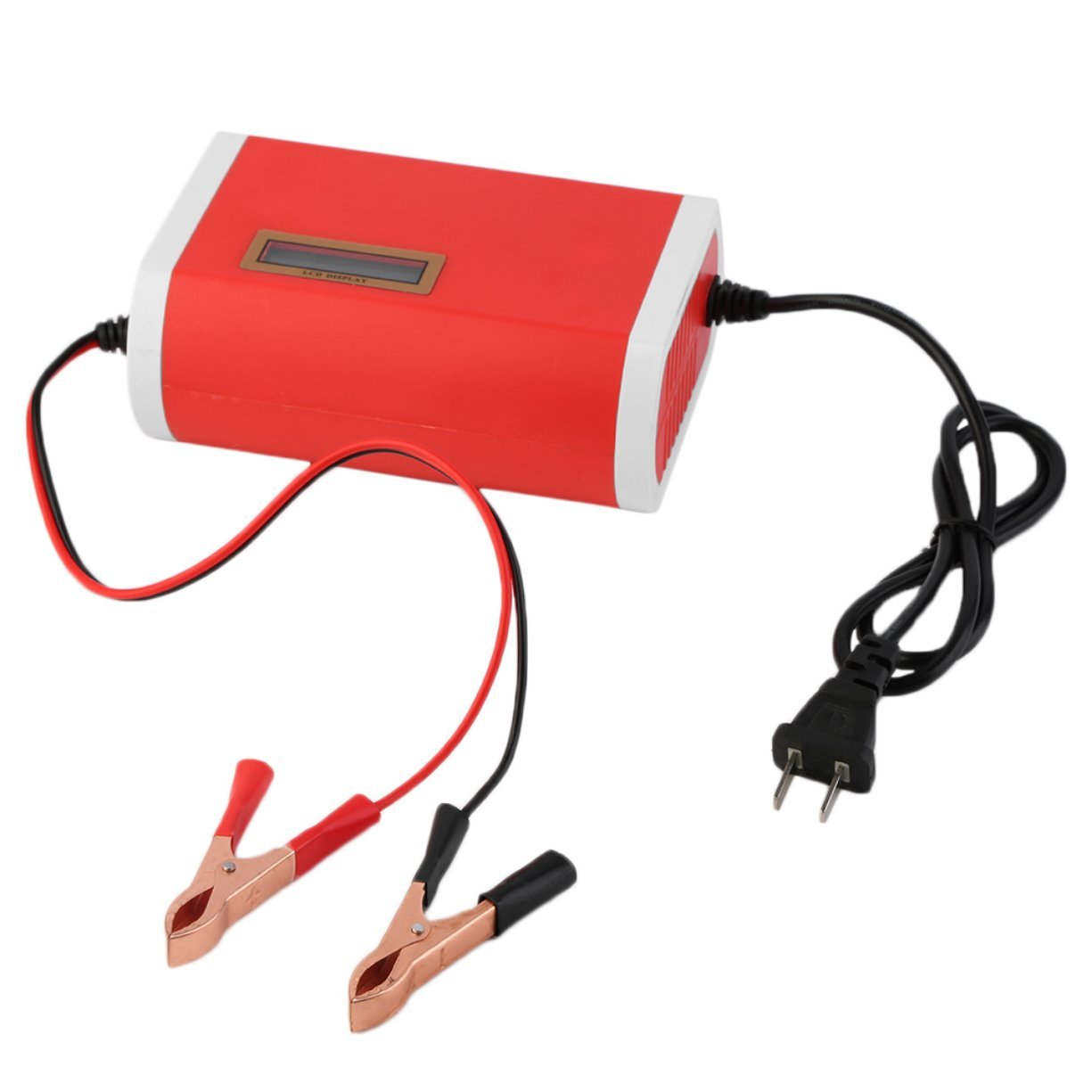Detectoy Compact Structure Light Weight Intelligent 12V 6A Car Motorcycle Battery Charger for 12-Volt Sealed Lead-Acid US Plug