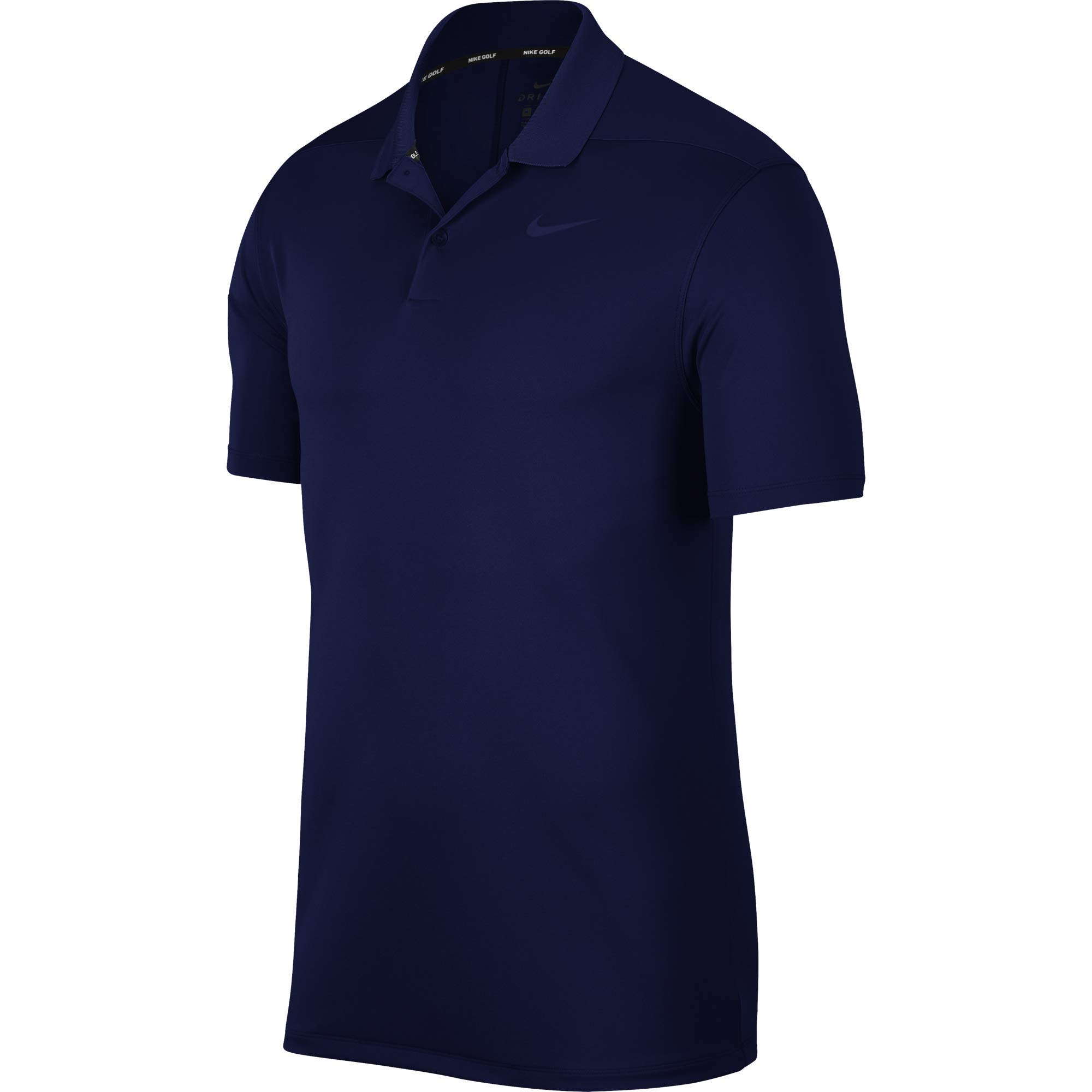 Nike Men's Dry Victory Polo Solid Left Chest, Blue Void, Small