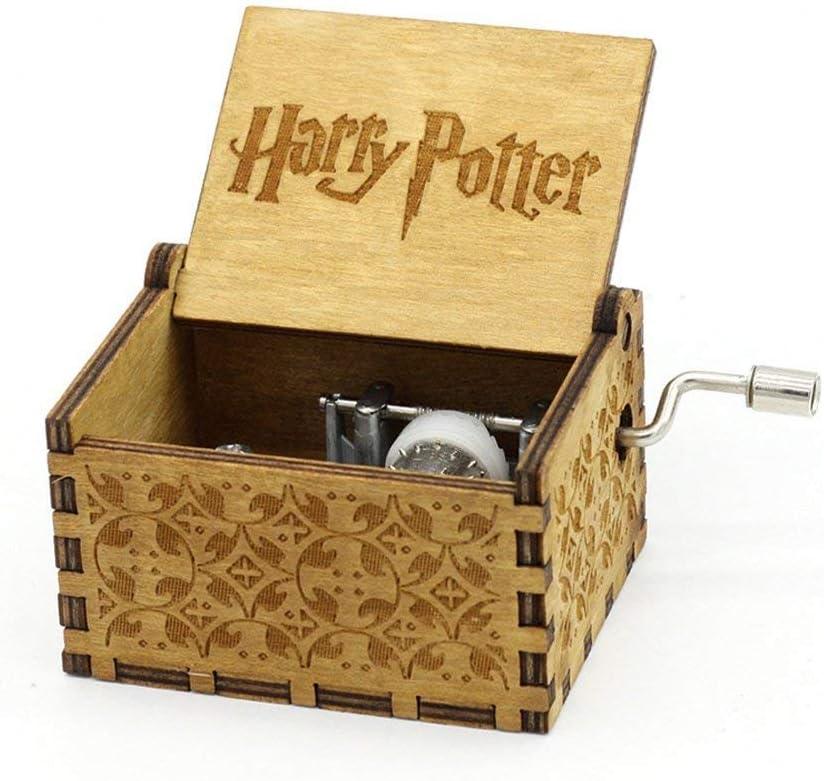 Crafts Ninja Hedwig tema Harry Potter grabada a mano de madera caja de música: Amazon.es: Hogar