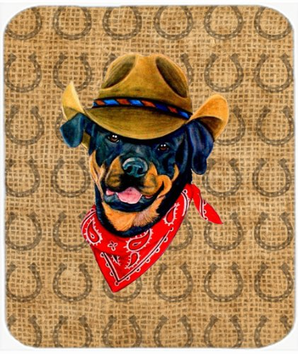 Rottweiler Dog Country Lucky Horseshoe Mouse Pad, Hot Pad or Trivet