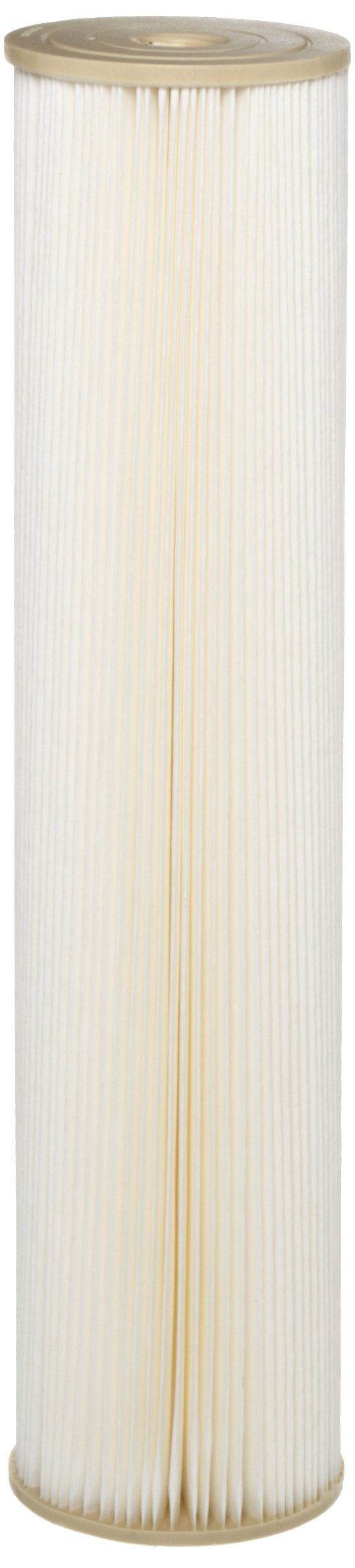 Pentek ECP1-20BB Pleated Cellulose Polyester Filter Cartridge, 20'' x 4-1/2'', 1 Micron