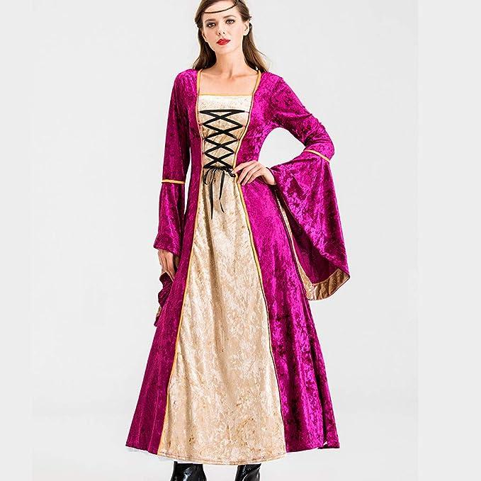 Sukienka damska, średniowieczna, długa, średniowieczne rękawy trąbki, średniowieczna sukienka Cosplay, kostium na karnawał, Oktoberfest, w stylu retro, tunika, gotycki, kostium Schankmaid: O