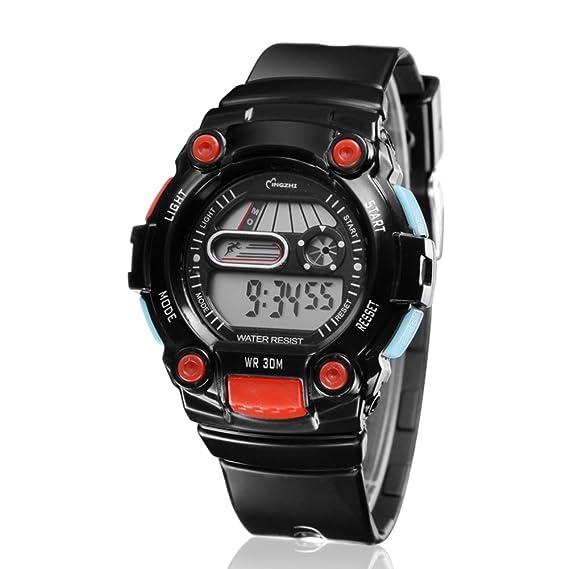 Relojes digitales impermeables infantiles/Reloj deportivo multifuncional-H