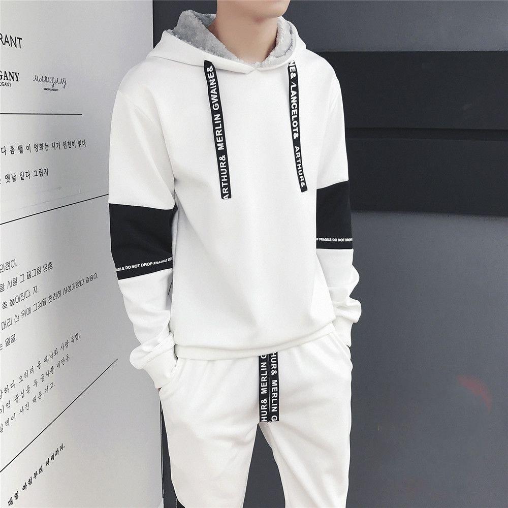 Ndsoo Pullover, Anzug und Kaschmir - Pullover für Wintersport - Mantel Pullover männer Studenten,weiße,2XL