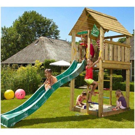 AVANTI TRENDSTORE - Spielturm aus Holz für Kinder, ca. 140x300x370 cm