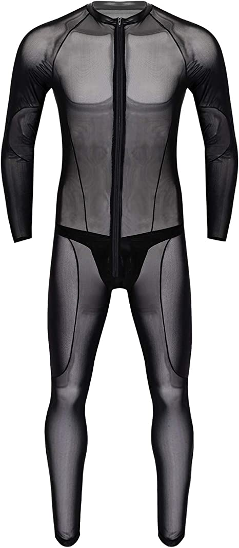 Jumpsuit Ganzkörper Nylon Bodysuit weiß M//L XXL NEU
