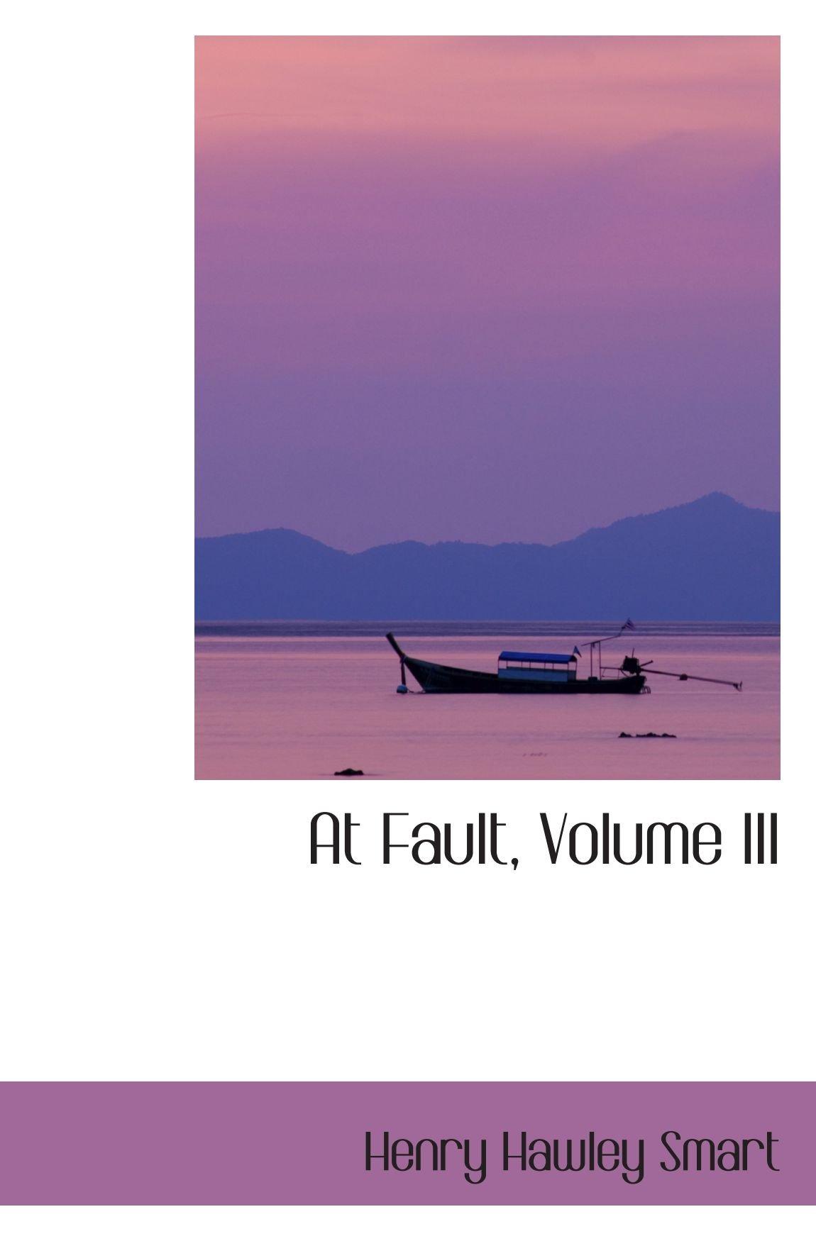 Download At Fault, Volume III pdf epub