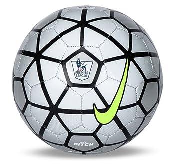 Nike Pitch EPL Premier League Football (Size 5) (Silver White ... b9c4eb36779