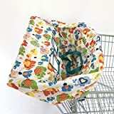 Standard Size 2-in-1 Shopping Cart Cover | High Chair Cover for Baby (Elephant)