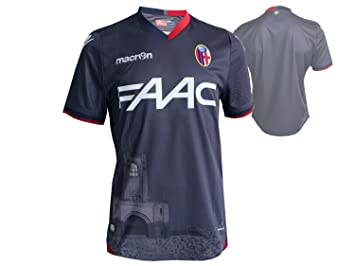 Macron FC Bologna 3rd Fútbol Jersey M16 Jugador BFC-G alternativamente Camiseta de fútbol Gris, Unisex, Gris Oscuro, Small: Amazon.es: Deportes y aire libre