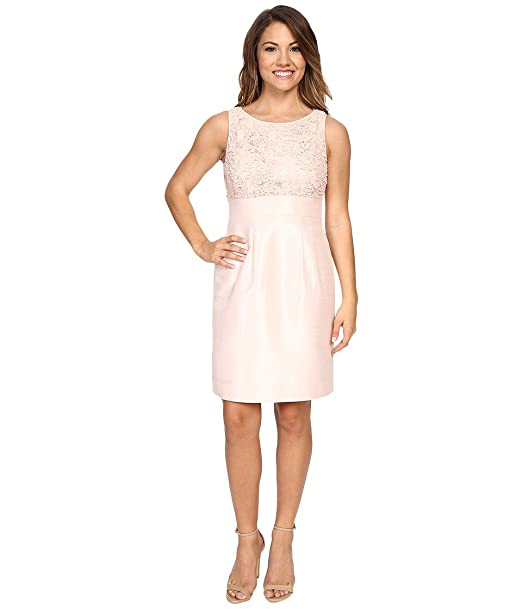 a9a636830c3c Tahari by ASL Petite Women's Petite Shantung Skirt/Novelty Top Blush Dress