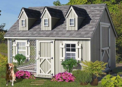 Little Cottage Company Cape Cod Cozy Kennel Panelized Playhouse Kit, 8' x 10'