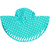 RuffleButts Baby/Toddler Girls UPF 50+ Sun Protective Wide Brim Swimwear Sun Hat