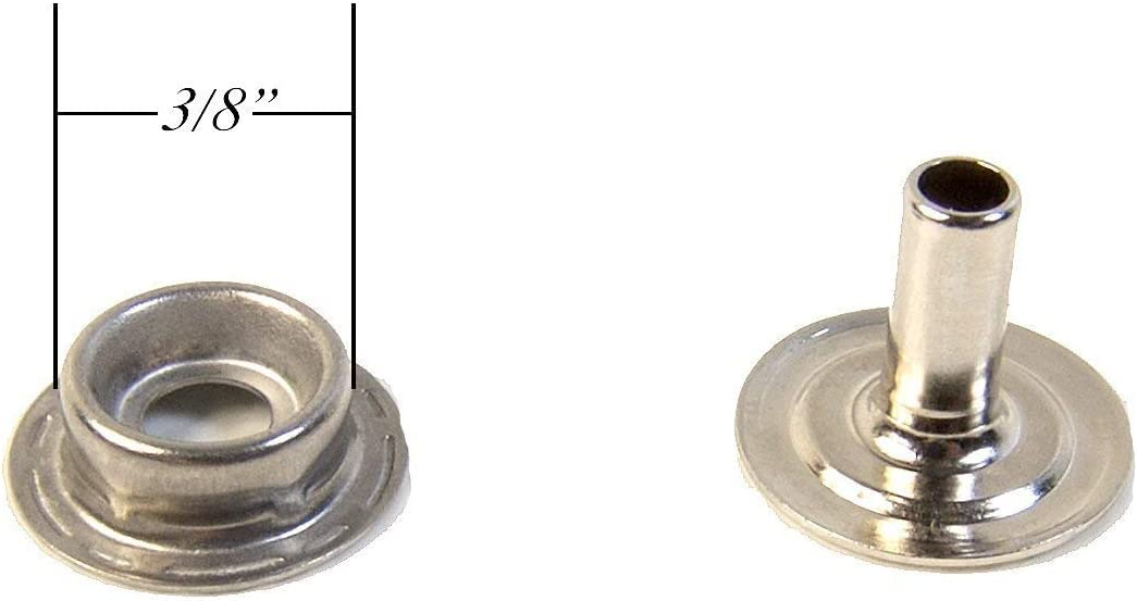 All Stainless Steel Parts Except The Eyelet 5 of Each Piece Snap Set with Long Posts for Thick Fabric or Carpet