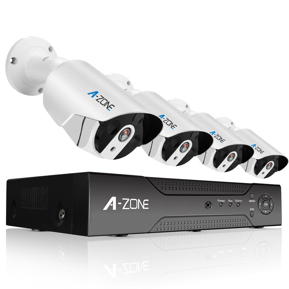 A-ZONE 400万画素タイプ POE給電カメラ 防犯カメラキット ネットワークカメラ hddレコーダー 暗視撮影 cctvセキュリティカメラシステム 監視カメラ ナイトビジョン 防水カメラ 動体検知録画(2000GB内蔵) 4ch ハイビョン HD NVRキット 屋内/屋外 クイックリモートアクセス 無料アプリ 遠隔監視対応 (2TB HDD 付き) B077XC42NP 4台 POEカメラ セット 2TB 4台 POEカメラ セット 2TB