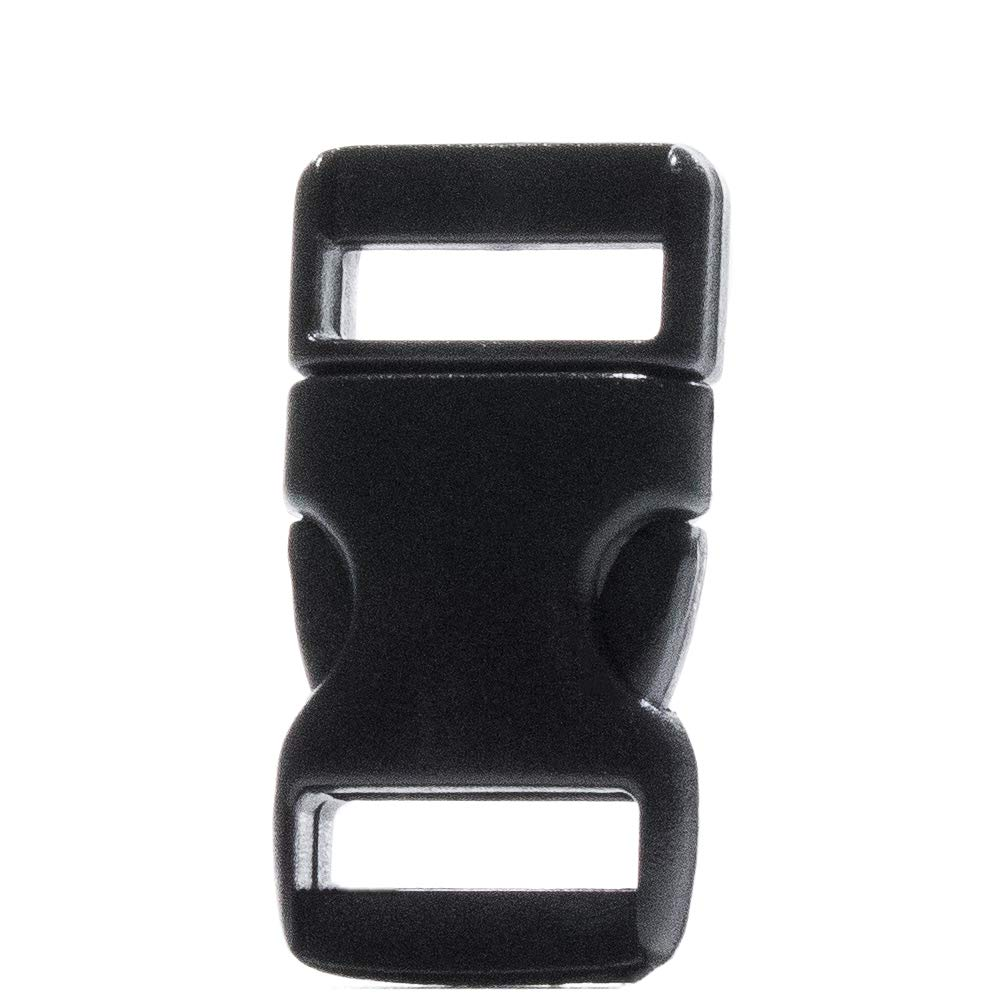 15 Pack 1.25 Inch Side Quick Release Plastic Black Buckles