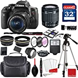 Canon EOS Rebel T6i DSLR Camera w/EF-S 18-55mm f/3.5-5.6 is STM Lens + Professional Accessory Bundle