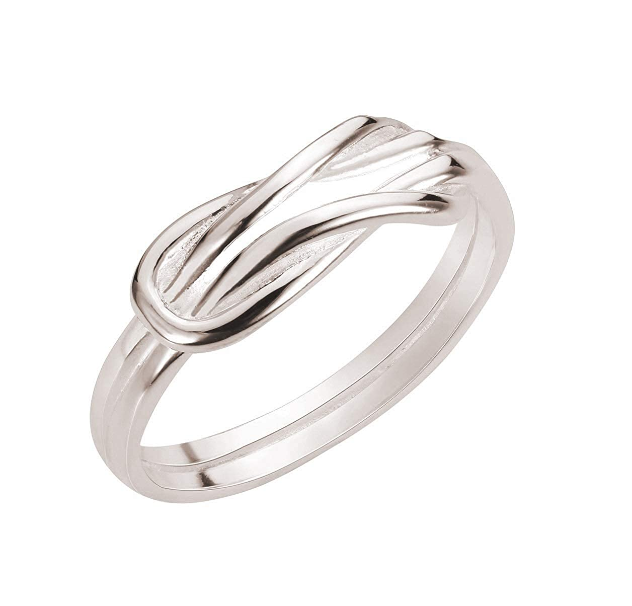 CloseoutWarehouse Sterling Silver Infinity Promise Knot Ring (Color Options, Sizes 2-13)