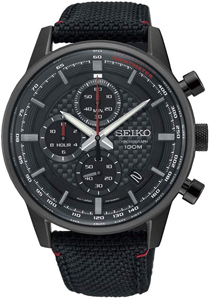 Seiko Reloj Cronógrafo para Hombre de Cuarzo con Correa en Cuero SSB315P1