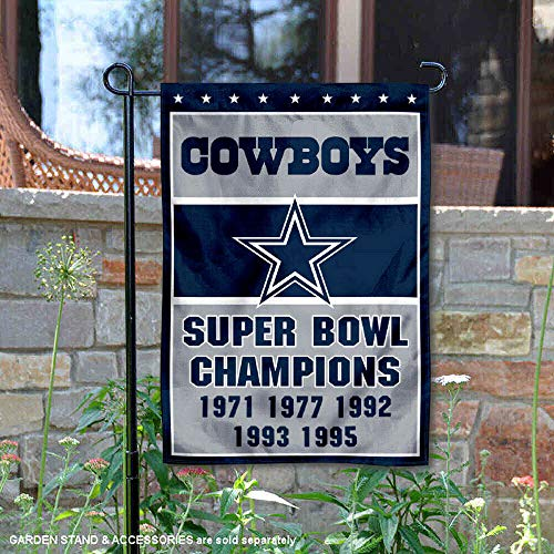 Wincraft Dallas Cowboys 5 Time Super Bowl Champions Double Sided Garden Flag